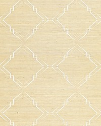 Monroe Embroidered Grasscloth Papyrus by  Scalamandre Wallcoverings