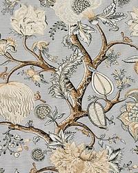 Pondicherry Linen Print Mineral by
