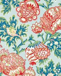Canterbury Linen Print Aquamarine by