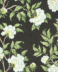 Peonia Linen Print Onyx by