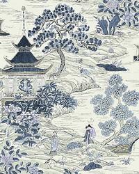 Satomi Hand Block Print Evening Blue by