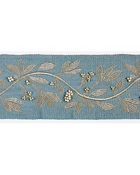 Laurel Embroidered Tape Bluestone by