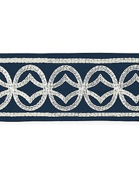 Athena Embroidered Tape Navy by  Scalamandre Trim