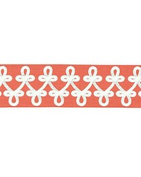 Empress Embroidered Tape Coral by  Scalamandre Trim