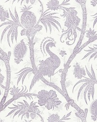 Balinese Peacock Lavender by  Scalamandre Wallcoverings