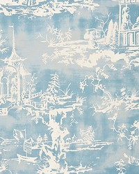 Summer Palace Sky by  Scalamandre Wallcoverings