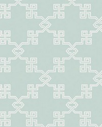 Suzhou Lattice Aquamarine by  Scalamandre Wallcoverings