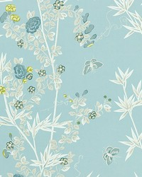 Jardin De Chine Ciel by  Scalamandre Wallcoverings