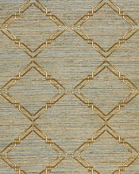 Monroe Embroidered Grasscloth Bronze by  Scalamandre Wallcoverings