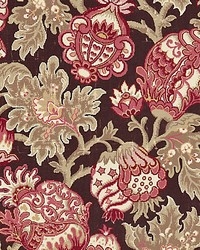 Canterbury Linen Print Mulberry by
