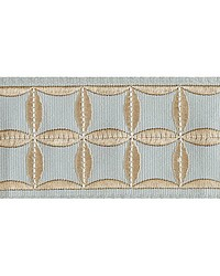 Fiori Embroidered Tape Aquamarine by