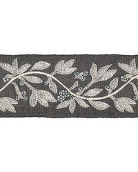 Laurel Embroidered Tape Charcoal by