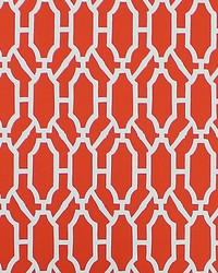 Pavilion Trellis Tangerine by  Scalamandre Wallcoverings