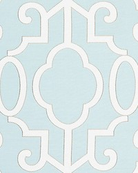 Ming Fretwork Aquamarine by  Scalamandre Wallcoverings