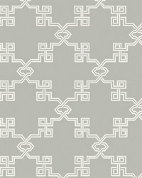 Suzhou Lattice French Grey by  Scalamandre Wallcoverings