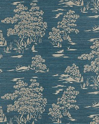 Katsura Embroidered Toile Peacock by