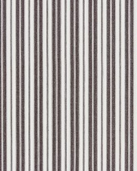 Devon Ticking Stripe Charcoal by