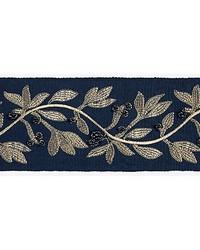 Laurel Embroidered Tape Indigo by