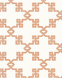 Suzhou Lattice Coral by  Scalamandre Wallcoverings