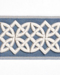 Celtic Embroidered Tape Dusk Blue by  Scalamandre Trim