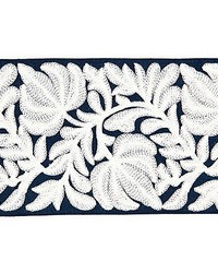Coventry Embroidered Tape Navy by