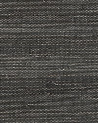 Textured Sisal Anthracite by  Scalamandre Wallcoverings