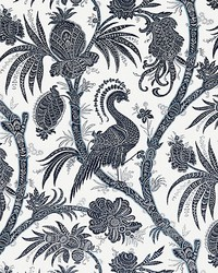 Balinese Peacock Indigo by  Scalamandre Wallcoverings