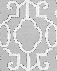 Ming Fretwork Silver by  Scalamandre Wallcoverings