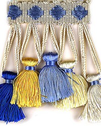 Follies Blues Yellows by  Scalamandre Trim