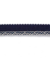 Blue Scalamandre Trim and Tassels - Fringe Scalamandre Trim Georgica Braided Cord Indigo