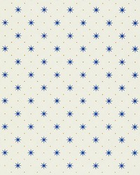 Trixie Blue  Gold On White by