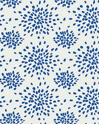 Fireworks Blue On White by