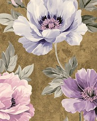 Kinsley Gold purple by  Scalamandre Wallcoverings