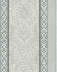 Cushing Teal silver by  Scalamandre Wallcoverings