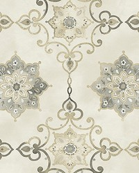 Isolde Silver by  Scalamandre Wallcoverings