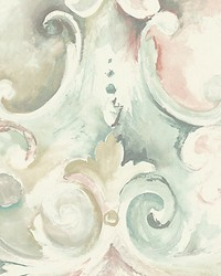 Aphrodite Gold blue pink by  Scalamandre Wallcoverings