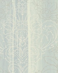 Angel Turquoise silver white by  Scalamandre Wallcoverings