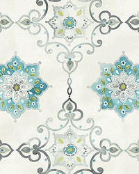 Isolde Blue silver by  Scalamandre Wallcoverings