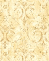 Casimir Green gold by  Scalamandre Wallcoverings