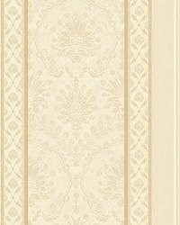 Cushing Cream gold by  Scalamandre Wallcoverings