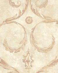 Gillian Purple gold by  Scalamandre Wallcoverings