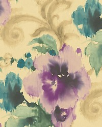 Marilyn Purple gold by  Scalamandre Wallcoverings