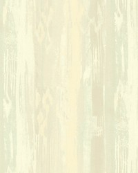 Melissa Cream turquoise by  Scalamandre Wallcoverings