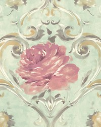 Amy Turquoise by  Scalamandre Wallcoverings