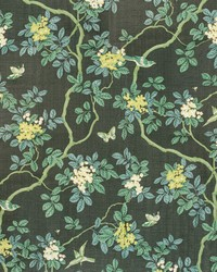 7814-15 BIRDS AND BUTTERFLY HERRINGBONE WOODLAND by