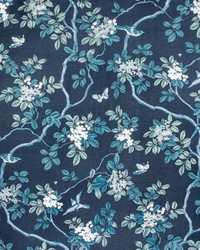 7814-44 BIRDS AND BUTTERFLY HERRINGBONE RIPTIDE by