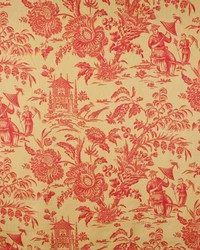 French Country Toile Fabric  Duxbury 1 Nugget