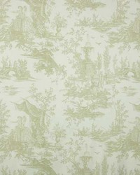 French Country Toile Fabric  Highland 2 Bayberry