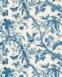 Blue French Country Toile Fabric  Jocelyn 1 Frenchblue