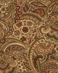 Red Classic Paisley Fabric  Lost Maples Wineberry